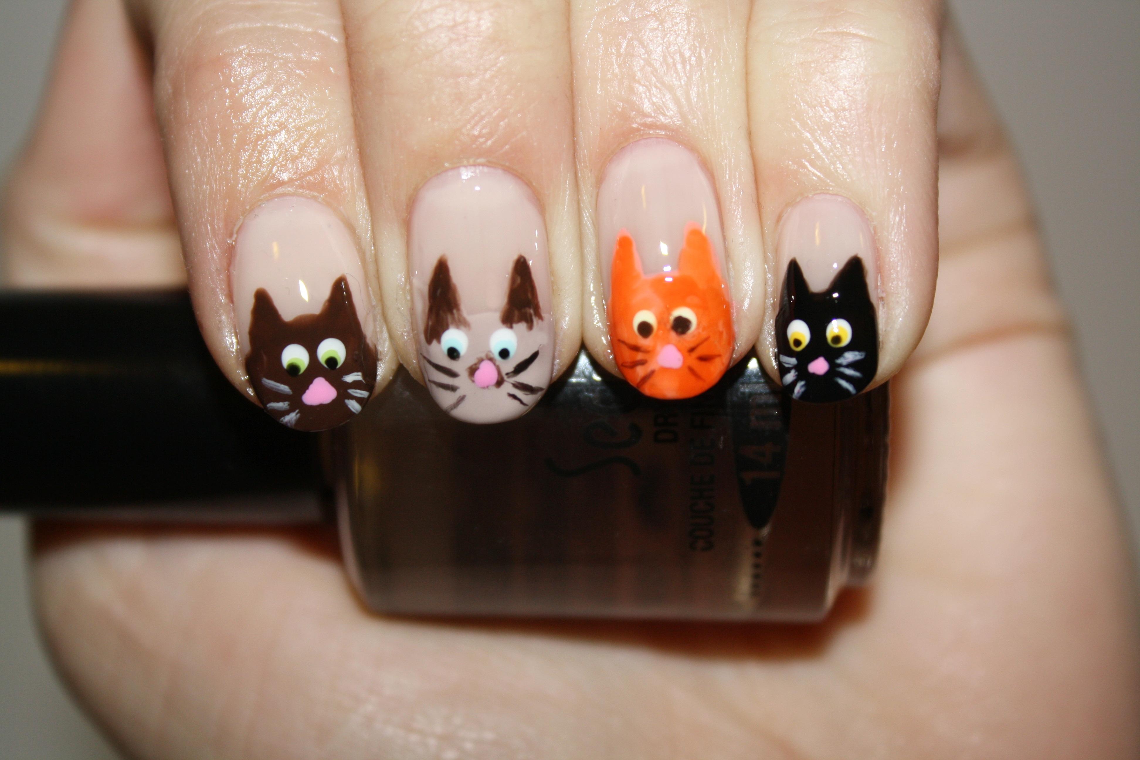 Nail Art Tutorial The Cats Meow Polishyoupretty