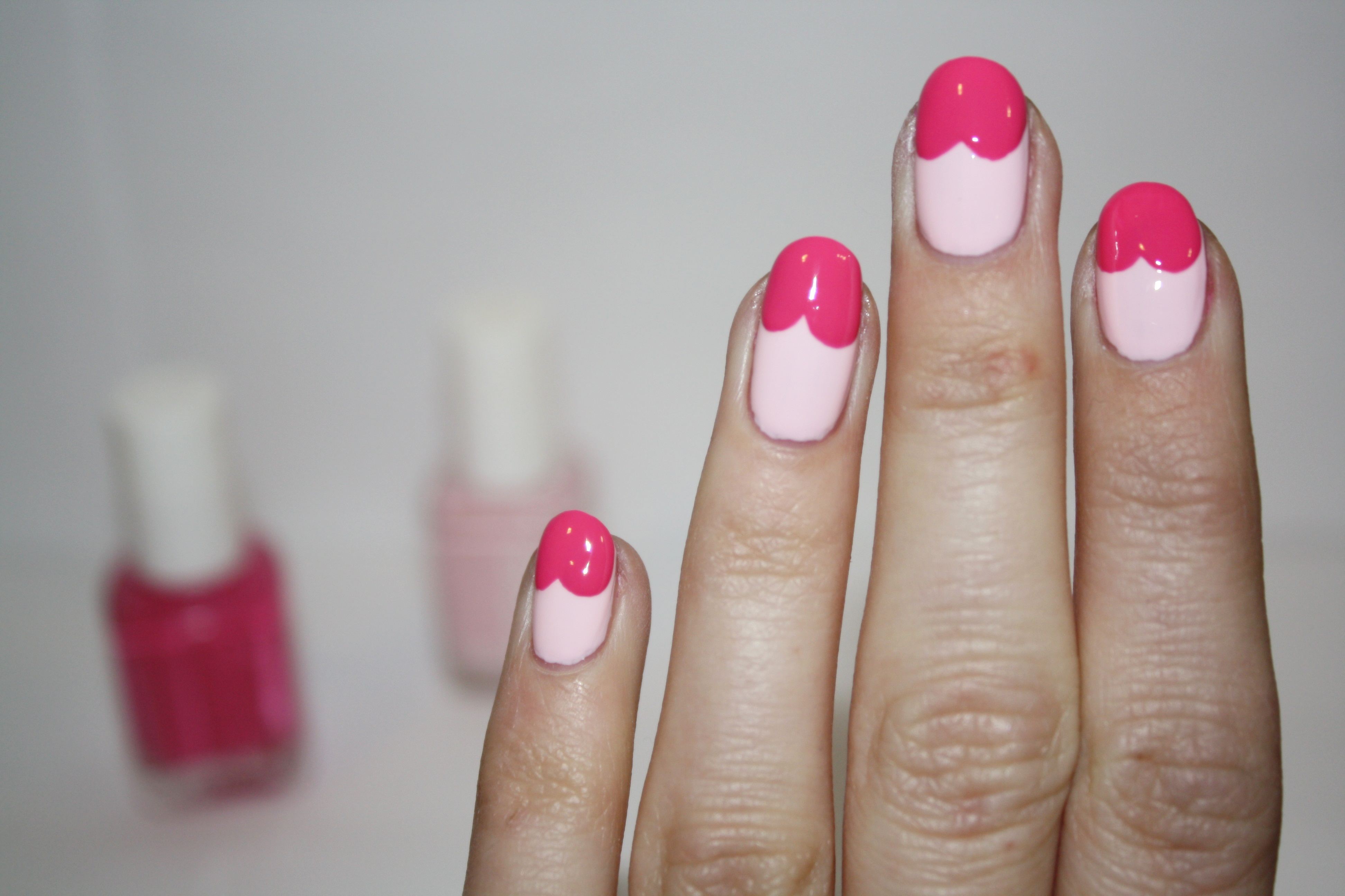 Nail art tutorial pretty in pink polishyoupretty step prinsesfo Image collections