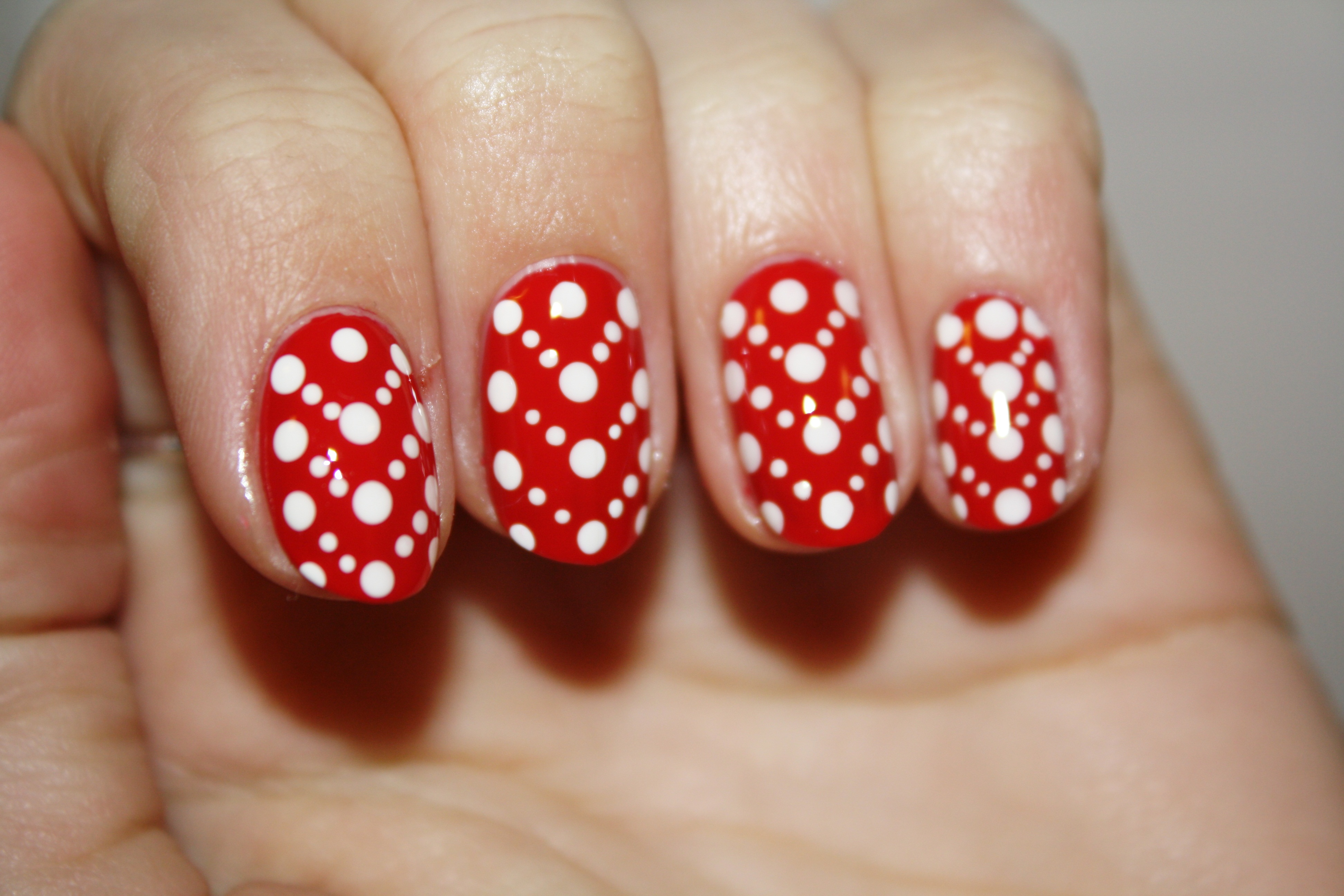 Nail Art Tutorial V Day Dots Polishyoupretty