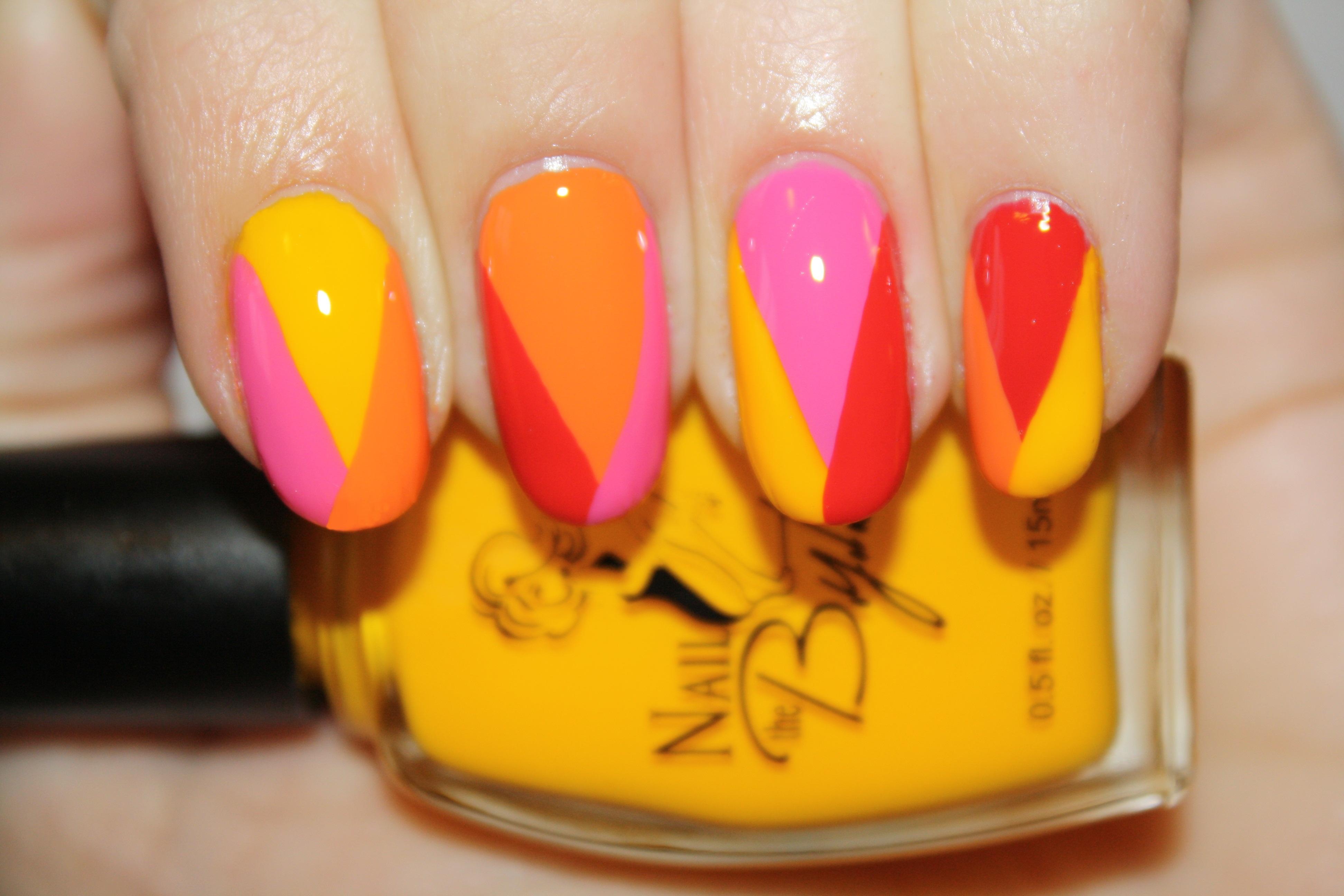 Nail art tutorial summer sorbet polishyoupretty we prinsesfo Images